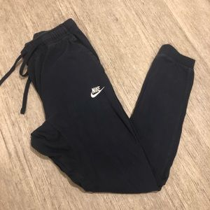 Nike sweatpant joggers navy blue small inseam 26""